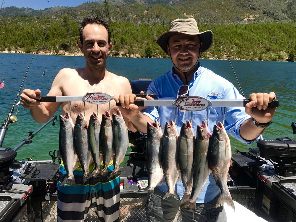 Return clients experience another great day of fishing with us!