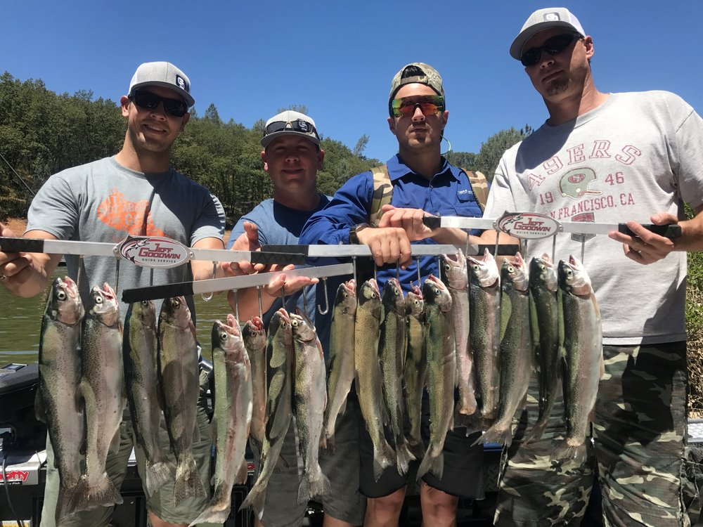 Shasta Lake rainbow trout trip!