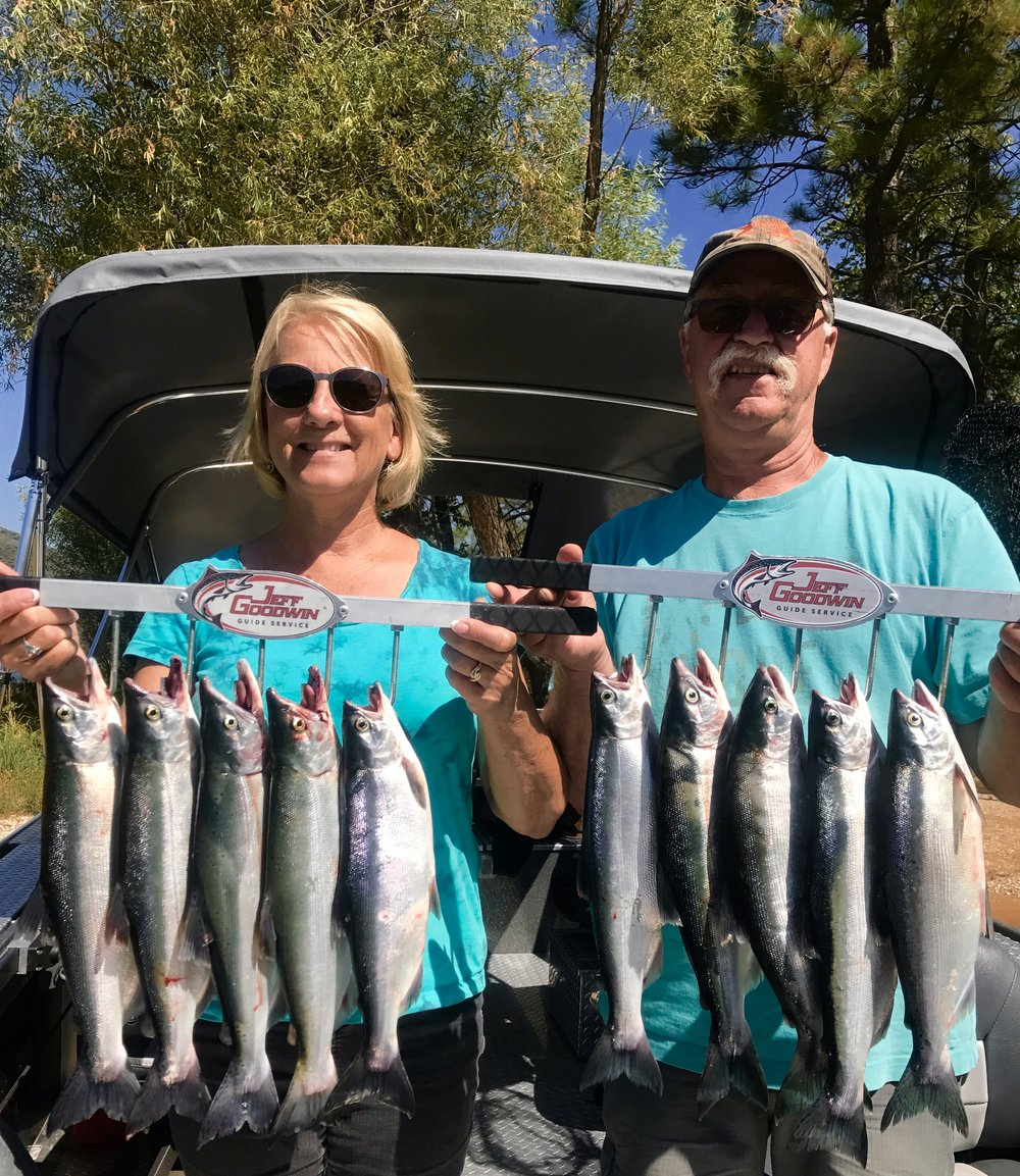 We're still catching limits of beautiful Kokanee salmon on Whiskeytown Lake!