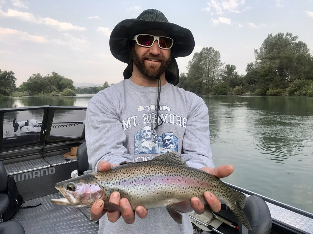Sacramento River rainbow steelhead trout fishing is a great time for the whole family!