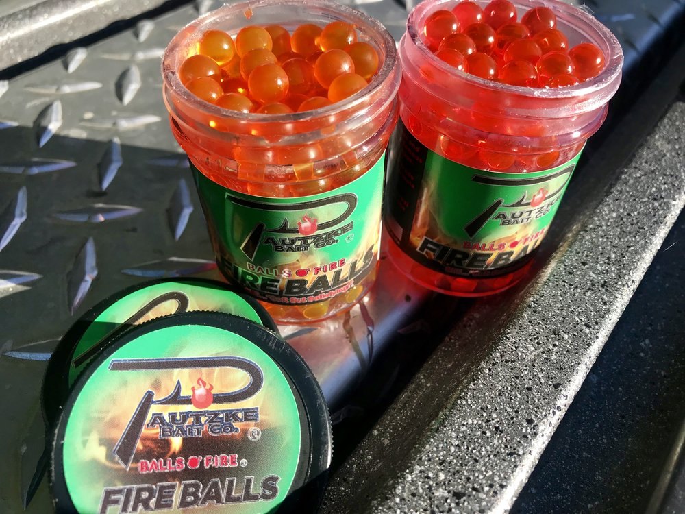 Pautzke Fire Balls are a new product and have yet to hit the shelves of our local tackle shops, but rest assured, they will be available soon and will be selling like wild fire when they do arrive early next year.