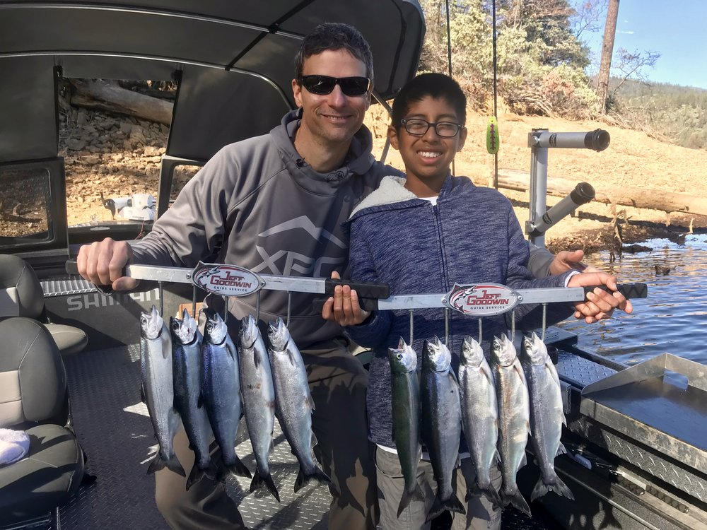Whiskeytown Lake Kokanee limits for this father son team!