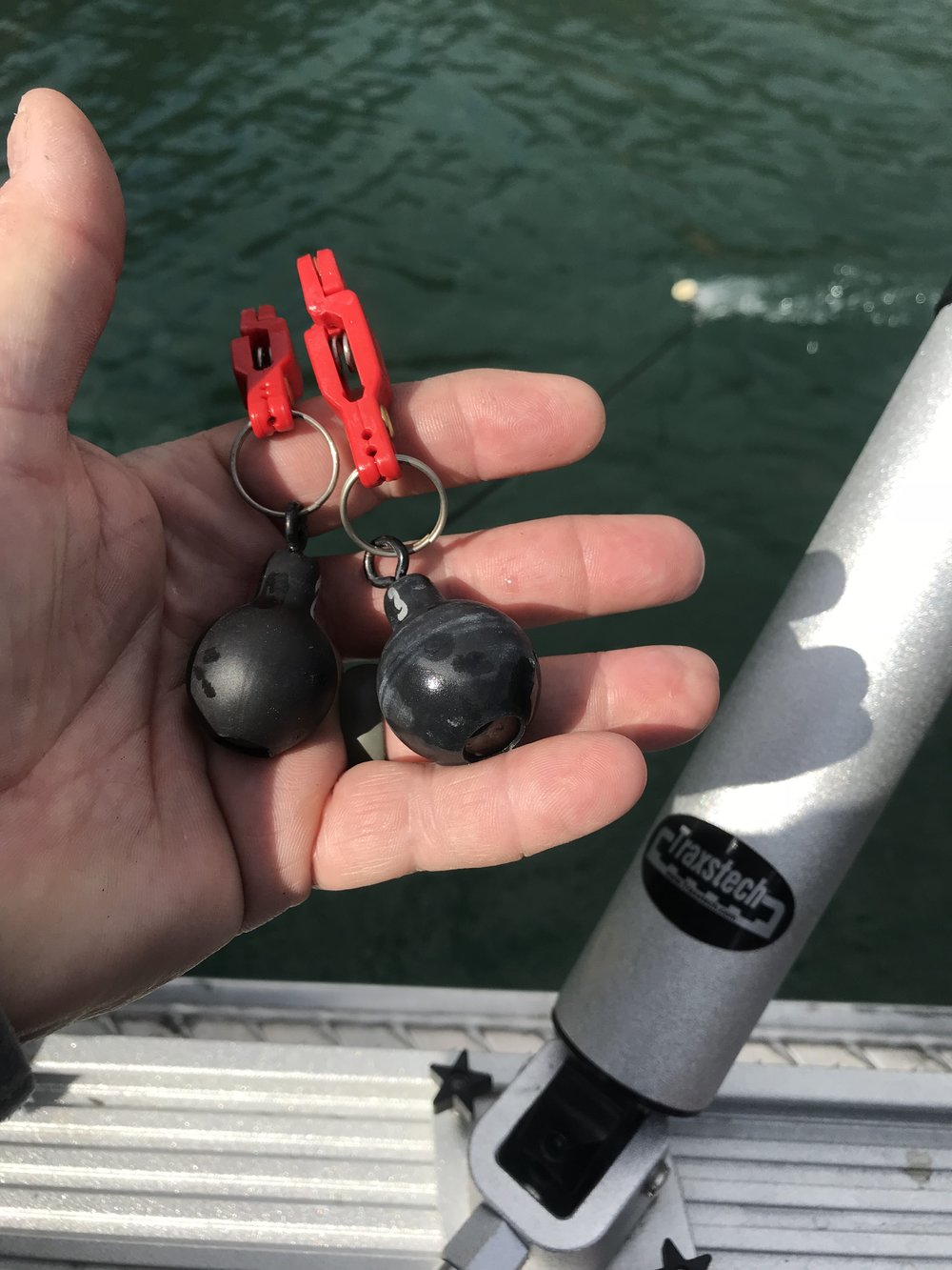 Eco Line Weights are a very effective tool for catching fish on the lakes.