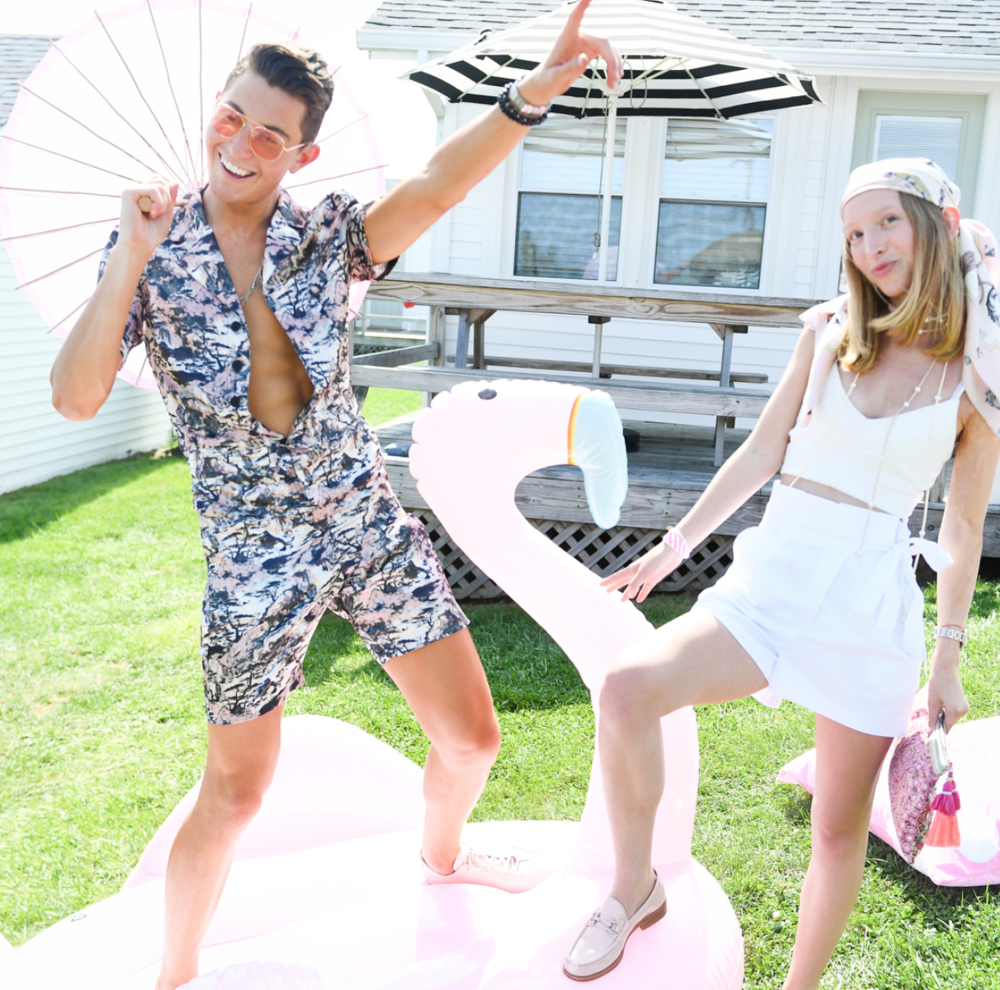 Tan ONLARRY MILSTEIN - For The Millennial Pink-Themed Party in the Hamptons