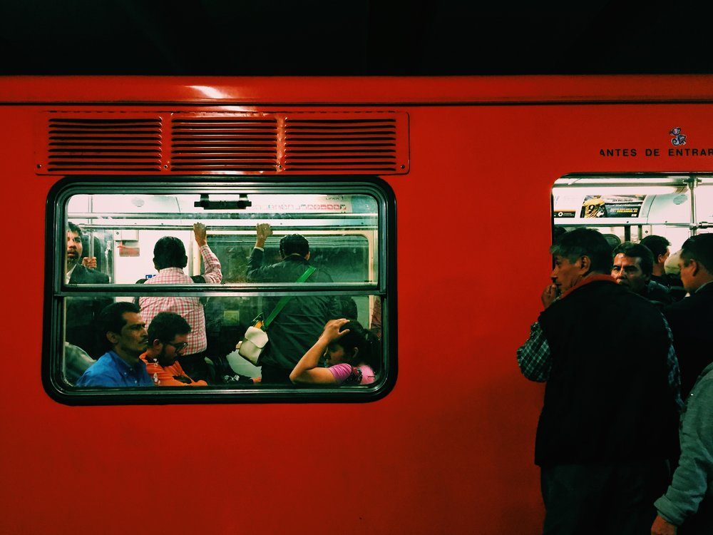 Subway congestion in Mexico City