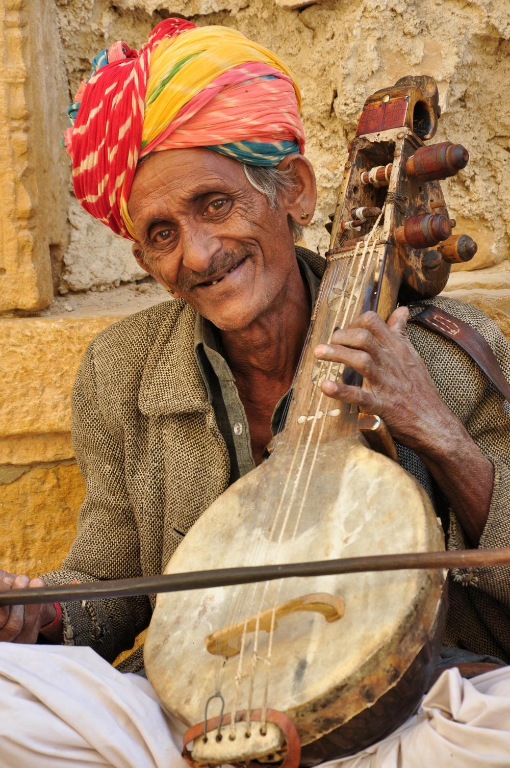 Folk Musician Bapuji Merasi