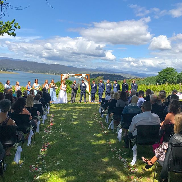 The Tamar Valley turned on another great day for this beautiful couple together with their friends and family.  #tamarvalley #weddingtasmania #discovertasmania