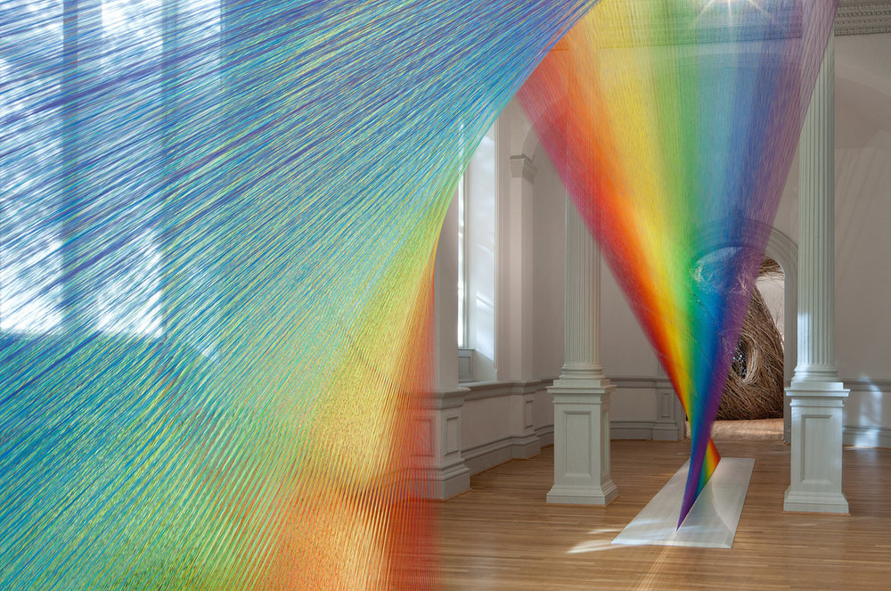 "Part of the Renwick's much-instagrammed ""Wonder"" exhibit: Plexus 10 by Gabriel Dawe. say what you want about it -- it's delightfully whimsical."
