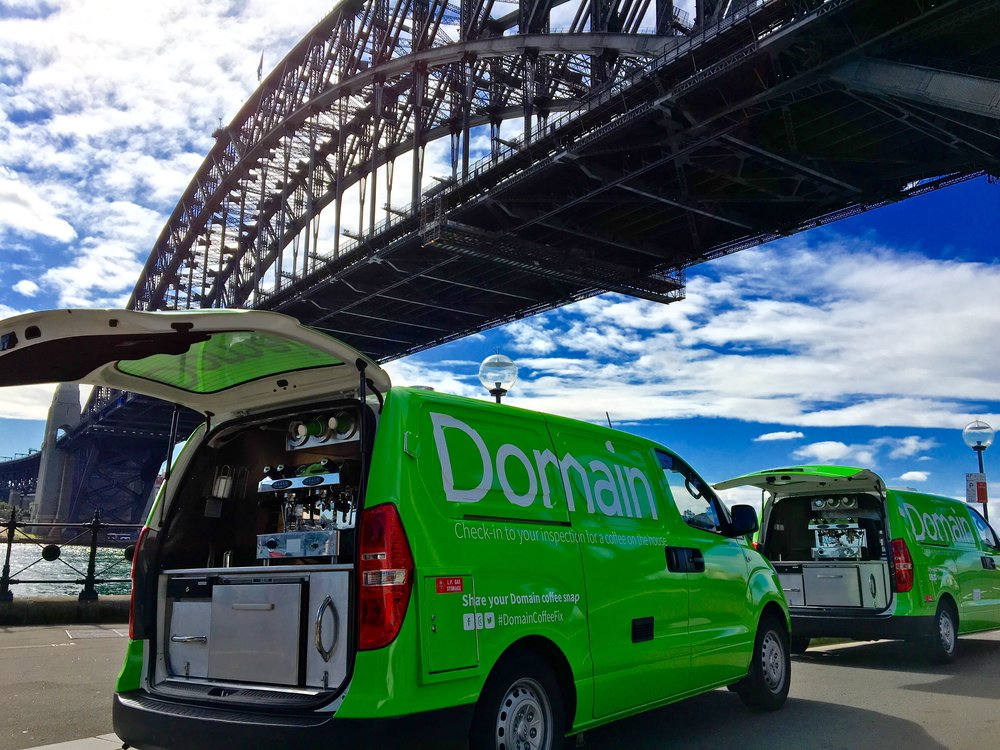2aa44d8822 We provided coffee vans for Domain nationally supplying coffee to their  customers in NSW