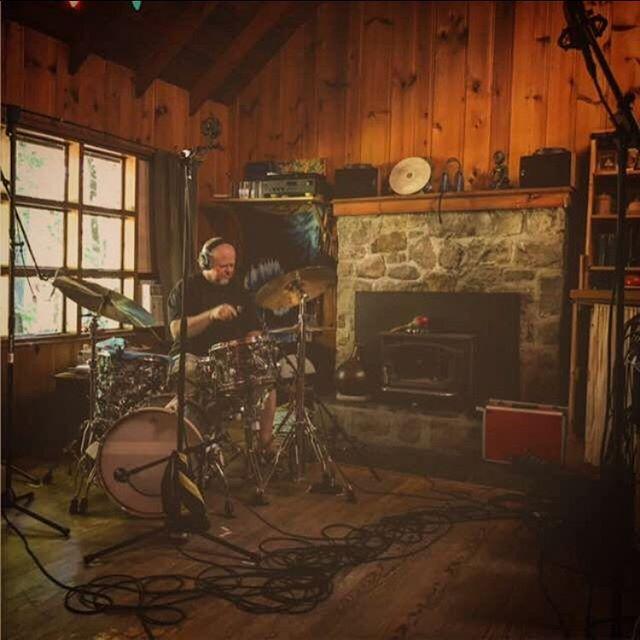 Down by the riverr  #cabin #cabinlife #studio #studioghibli #studioonthego #drumline #drums #glynjohns #johnmayer #recording #sessioninprogress #shure #akg #neumann