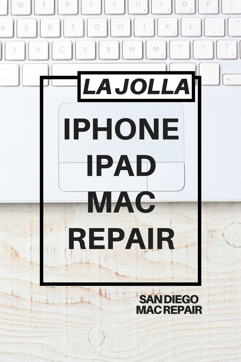 La Jolla iPhone iPad Mac Repair by San Diego Mac Repair. 2016