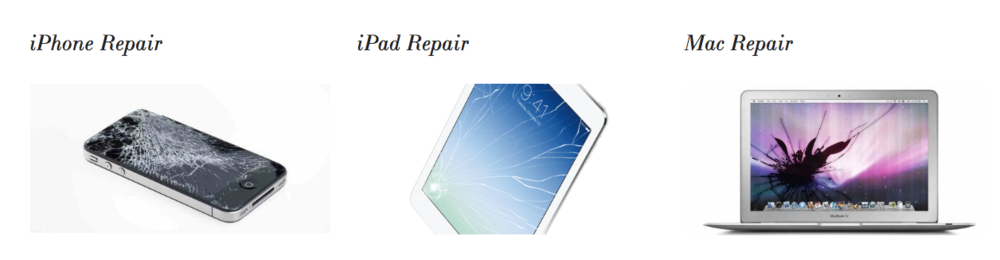 cracked iphone screen iPad screen MacBook screen repair in del mar and rancho santa fe. available by appointment.