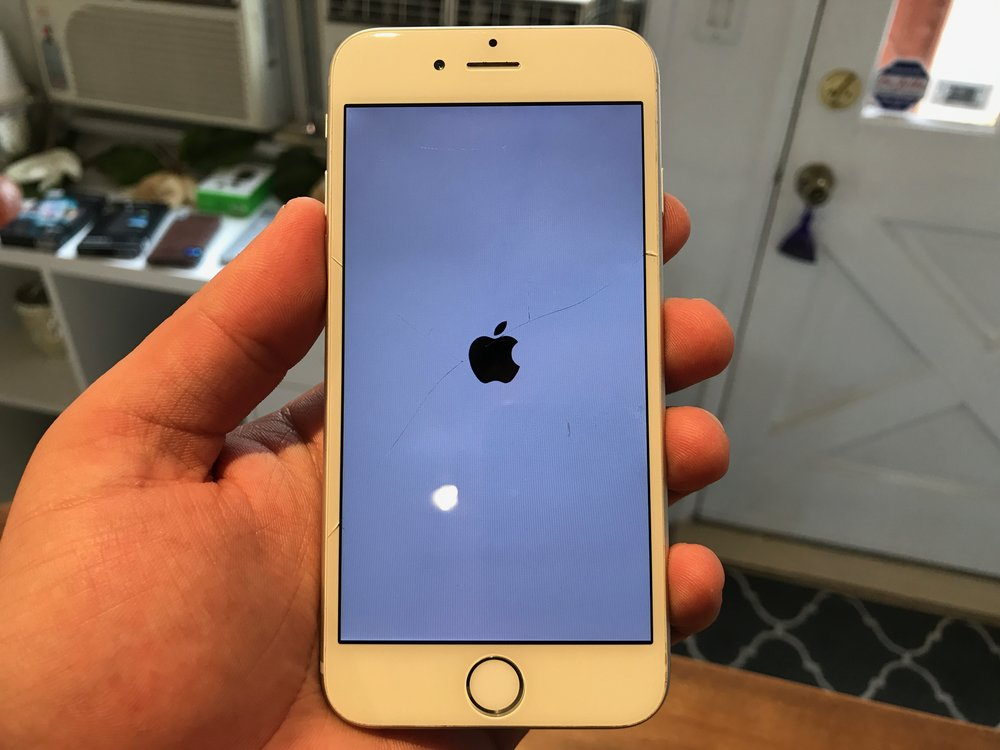 this iPhone was repaired at another repair shop in San Diego cheap fake iPhone screen