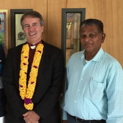 Rev. Mohan (Peter) Ponugabaty with New Dover United Methodist Church Pastor, Rev. Chuck Coblentz