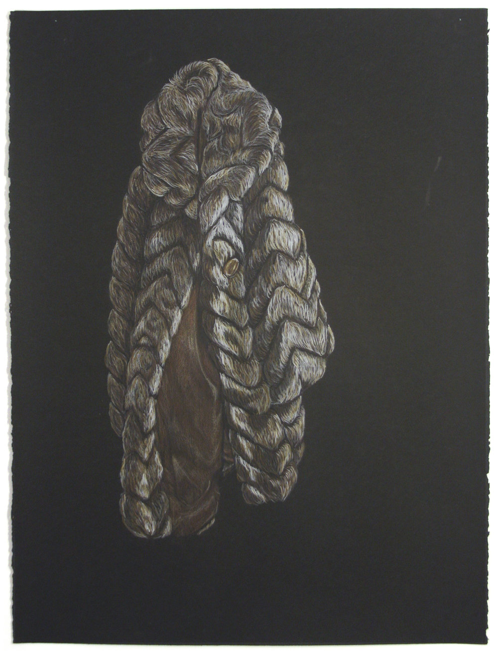 "FUR COAT 22"" x 30"" Colour Pencil on Paper $700.00 