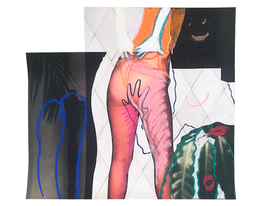 "DEVIANT PLEASURE 10"" x 12"" Chalk Pastel on Archival Inkjet Print $75.00 