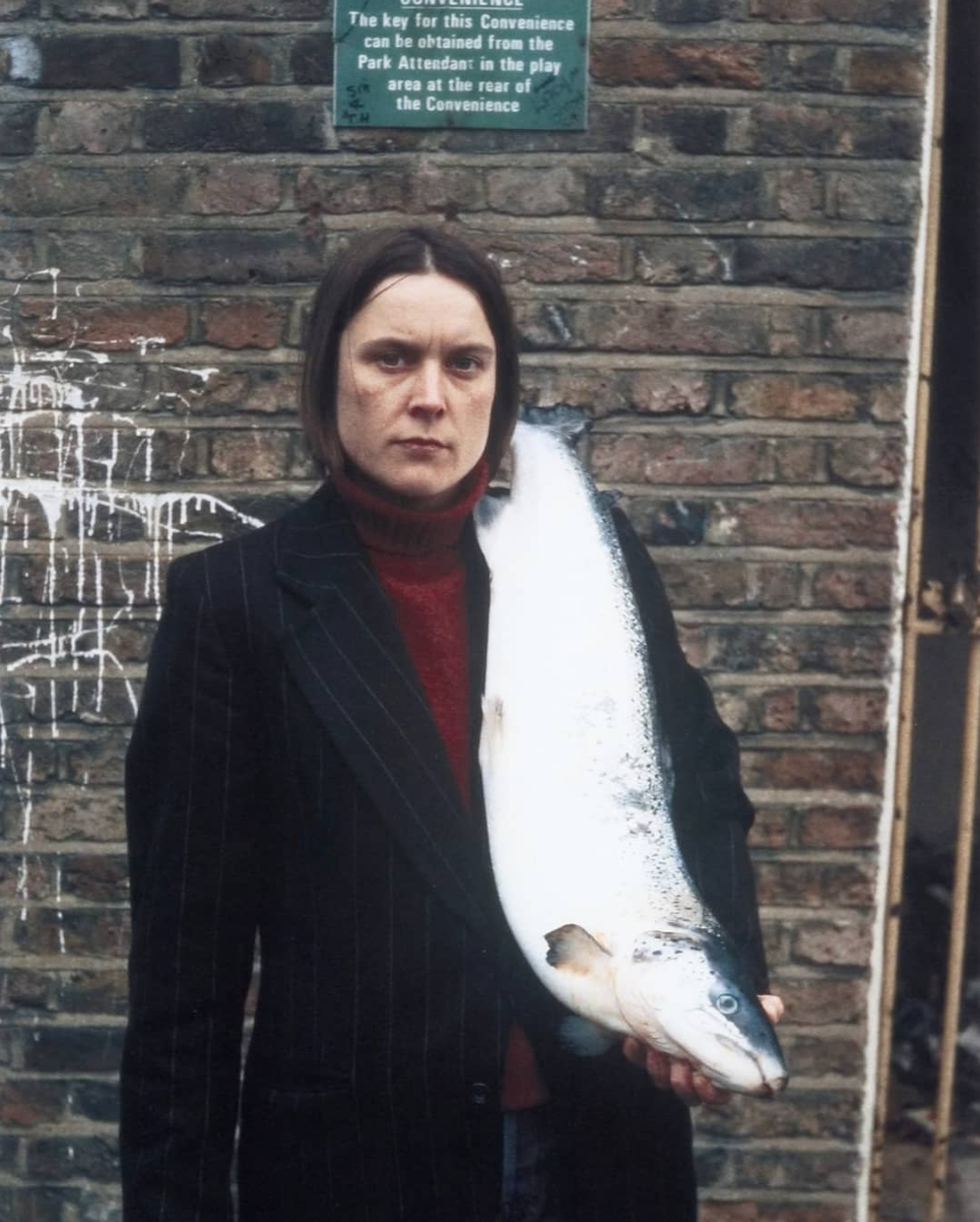 Sarah Lucas -  Got a Salmon on #3 ( 1997)