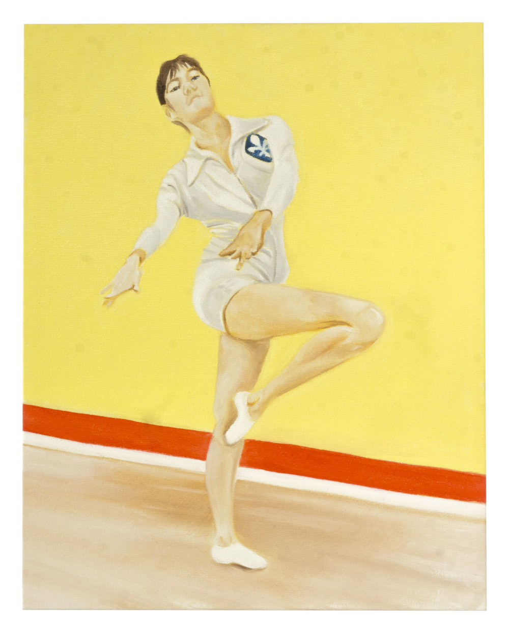"""MY MOTHER, A YOUNG GYMNAST 11"""" x 14"""" Oil on Canvas $300.00 