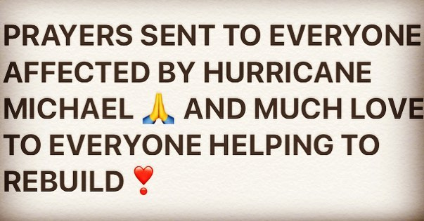 #Hurricane #HurricaneMichael #Love #Support #Rebuild #Teamwork