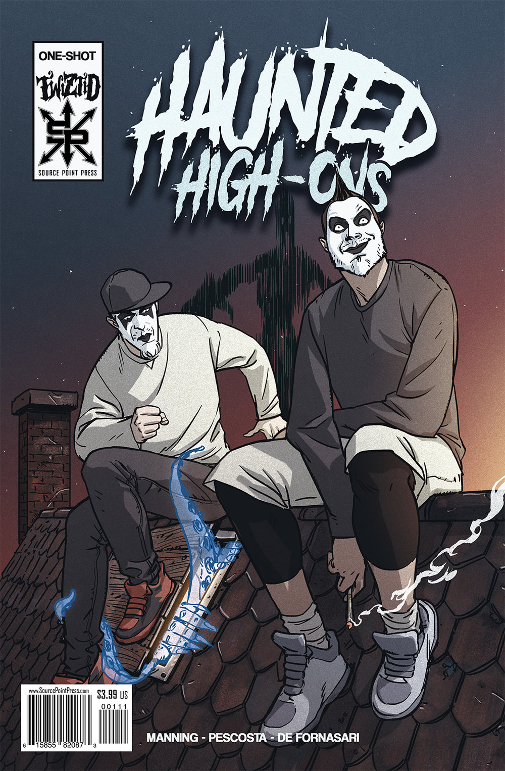 - Twiztid, composed of Jamie Madrox and Monoxide, is a rap group based out of Detroit, MI, with 11 studio albums to-date, and a 12th coming in 2018 from their label Majik Ninja Entertainment. Haunted High-Ons is a one-shot comic story featuring the duo having carved out a comfortable side-gig for themselves as fake ghost hunters… but what happens when a routine house call yields not only a ghost, but a killer demon to boot? Hijinks and horror, of course!