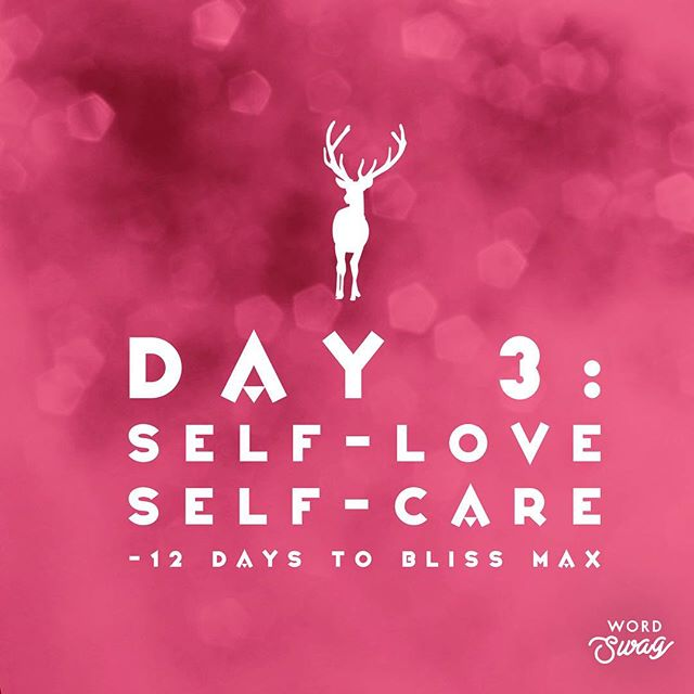 • Day 3 • 12 DAYS TO BLISS-MAX 🌟🎄🕊 TODAY: Self Love & Self Care!!! Make space & soften. ☁️🕊☺️ I invite & challenge you to ~ within the next 24 hours (48 if you really need) ~ to schedule 1-2 hours of special loving spacious peace~inducing time for yourself. SAY YES TO YOU! Practice setting healthy boundaries for your proactive self-care. ***More in the Video*** DAILY: Breathe, Ground & Connect to Mama Earth & List off 3-5 things you're Grateful {at least one thing you're grateful for about yourself!} 😍  #12days2blissmax ***TELL ME HOW YOU'LL SPEND THAT SPECIAL YOU~TIME IN THE COMMENTS BELOW!!!***