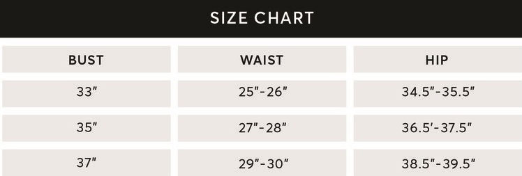 activewear size chart