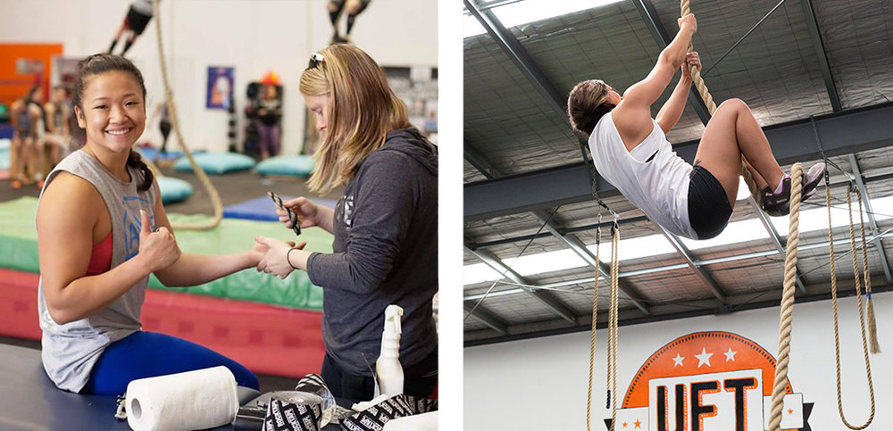 (Left) Sheena on location at the 2016 Rope Climbs to Everest (Right) @trentpacephoto @missievillamor