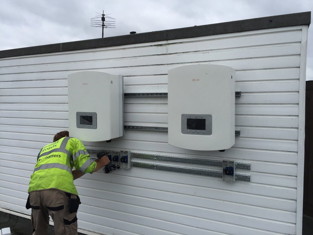 Inverters being installed