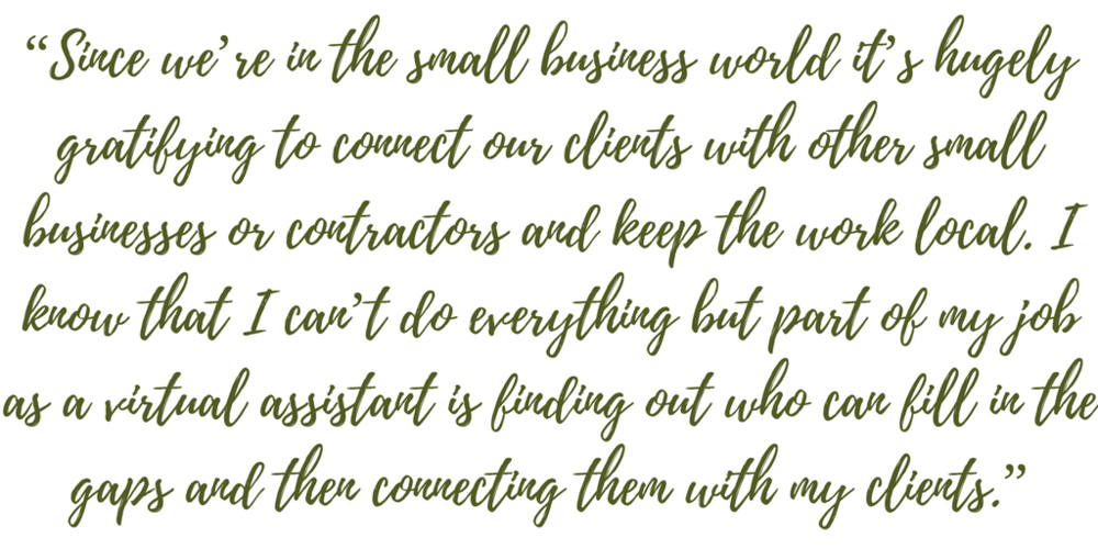 Done By 5. DB5. Virtual assistant. Small business assistant. Blog quote.