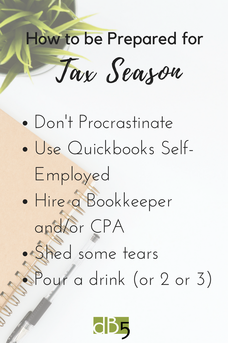 "Done By 5, Blog, ""How to Be Prepared for Tax Season."" Virtual Assistant, Small Business, San Francisco Bay Area."