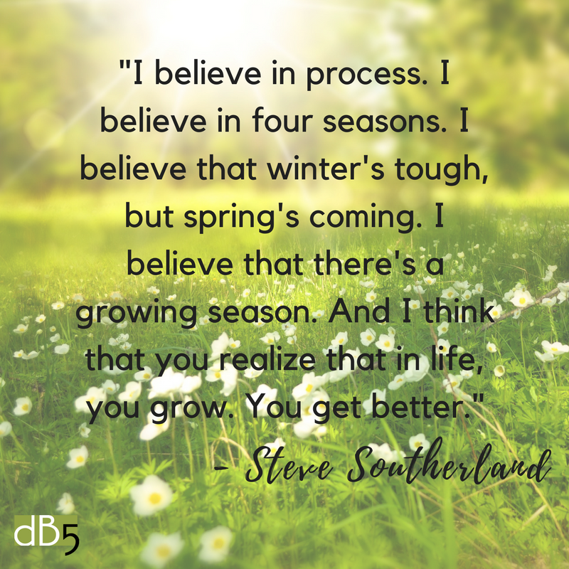 Done By 5 Blog, Southerland Quote about Seasons. DB5, Virtual Assistant, Small Business, San Francisco Bay Area