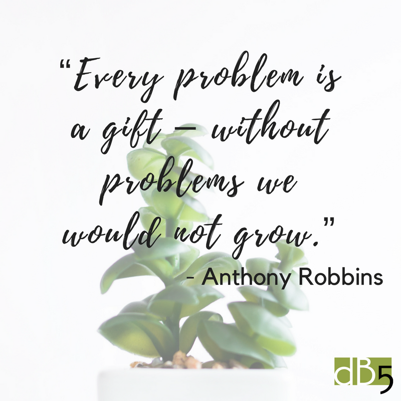 Done By 5 blog quote, Anthony Robbins. Virtual Assistants for small business. San Francisco Bay Area