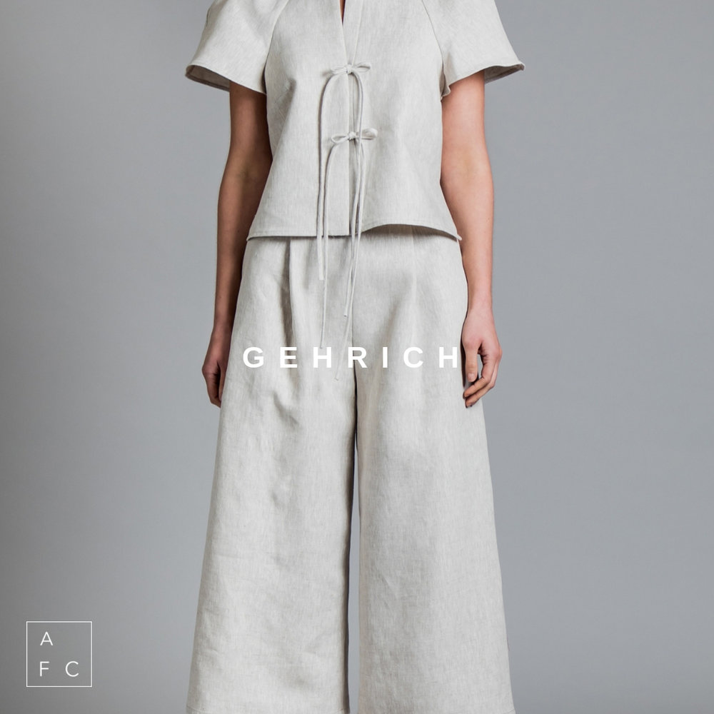 Gehrich by Melbourne designer Samantha Gehrich, incorporates a philosophy of sustainability, exceptional fibres and limited collections. Each piece is exclusive, luxurious and crafted to stand the test of time. Blending classic style with contemporary flair… -