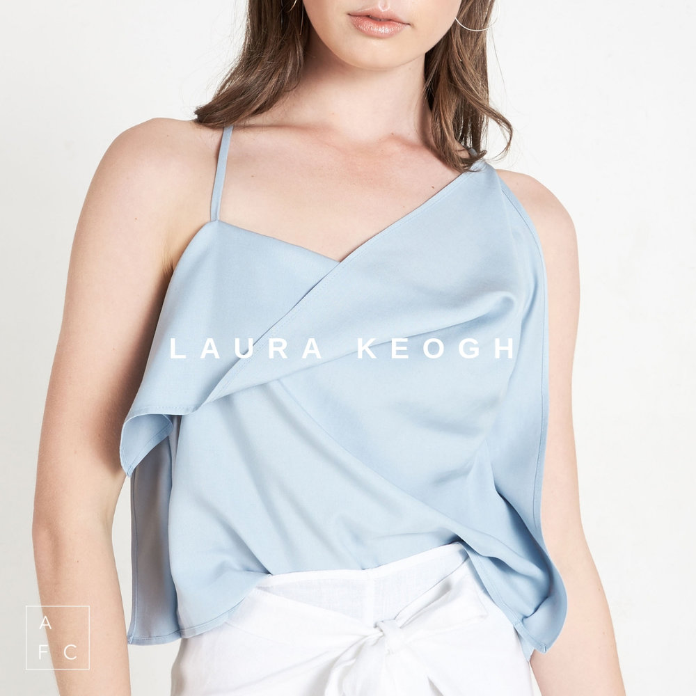 Sydney designer Laura Keogh reflects on timeless design, versatility and draped silhouettes. Each design explores the use of natural fibers and pattern making techniques with a focus on elegant simplicity… -