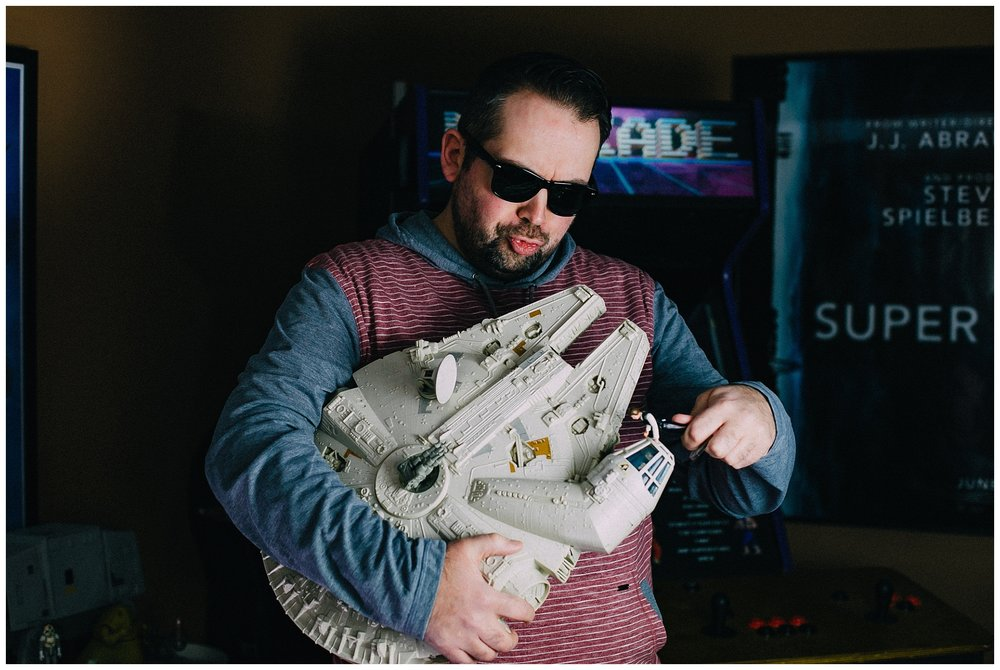 4 p.m.:  Matthew A. Hawkins , creative behind  Around Town in Chilliwack , hanging with the Millennium Falcon and Han, Downtown Chilliwack.