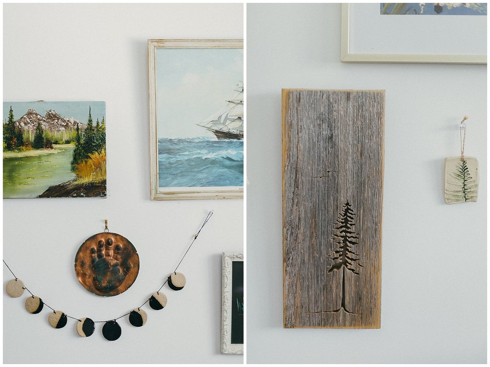 Ok ok ok last one of this beautiful wall, my favourite part - and some more Fern Craftwork and a local grain piece by my friend Kimberly Francis. Our house is covered in her work - some of the very first pieces we put up on the wall.