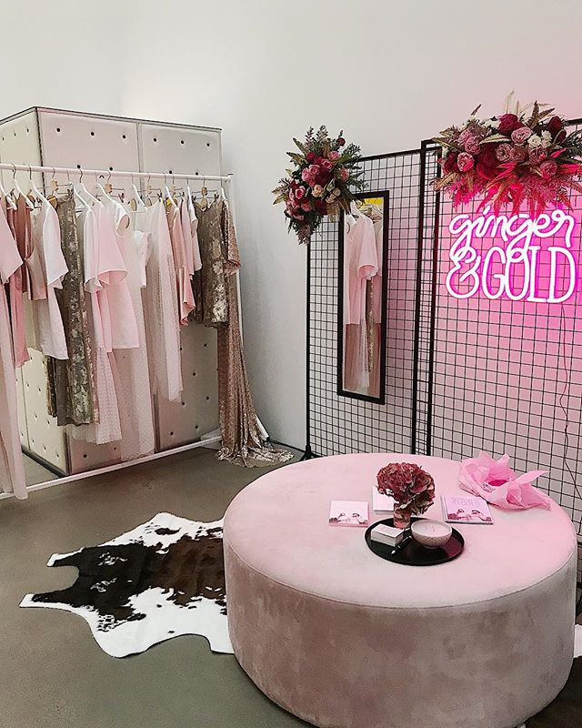 50 Shades of Pink 🌸 we are at @onefinedayweddingfairs at GOMA tonight! Tickets are still available at the door, runway show starts at 5:30 ✨ massive thank you to @himandherevents @gloriosaflorals @neonrepublic_ for making our stall look amazing! #onefinedaybrisbane