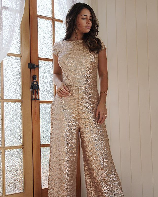 Overwhelmed with enquiries for our incredible KATE jumpsuit, we just had to make her available to our beautiful brides! Here she is ladies, in all her rose gold sequin, pant legged goodness ✨ she'll be up on the website this week, but is already available to order! Send us an email if you want to try her on!
