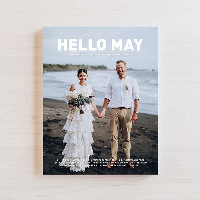 Today is our new favourite day ever because the wedding of our real brides, Teegan and Mahatia have been featured in Issue 20 of @hellomaymagazine, on sale now! Cover photo by @almaphotography, image by @scottsurplicephotography ✨#hellomay #realbrides #realwedding #gingerandgoldbride