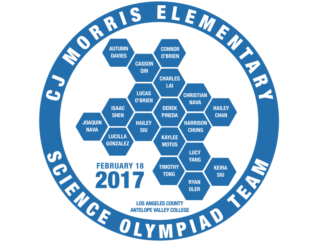 CJ Morris 2017 Science Olympiad Team Logo