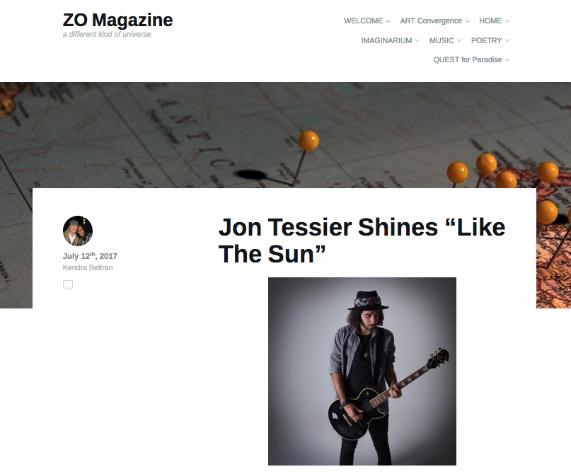 ZO magazine interviews Jon tessier. -