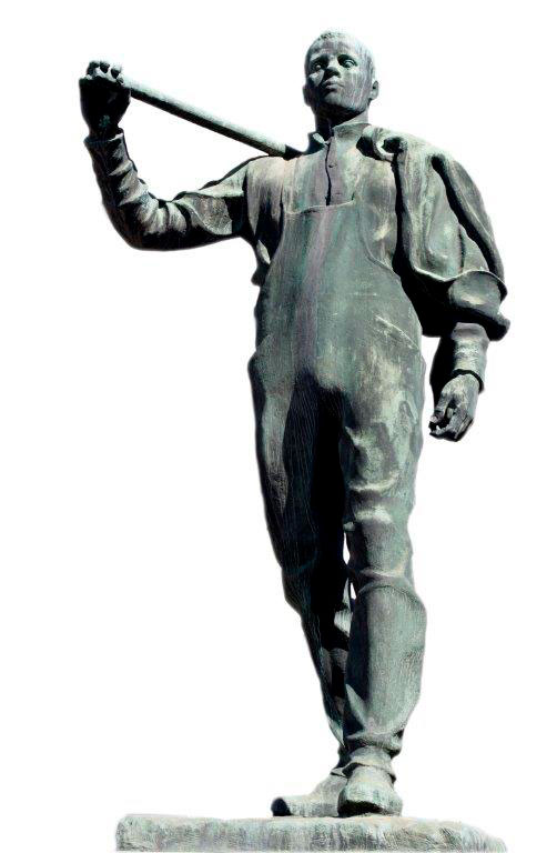 Pioneren . Skulptur av Per Palle Storm. Fotograf: Bjørn Grimsrud