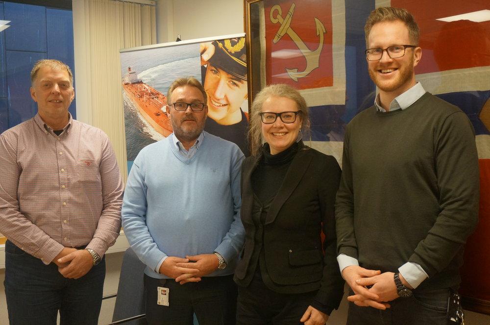 Styreleder Øystein Torp, Direktør Hans Sande, Astrid Rødsand (AAF), Assisterende Direktør Anders Hansson