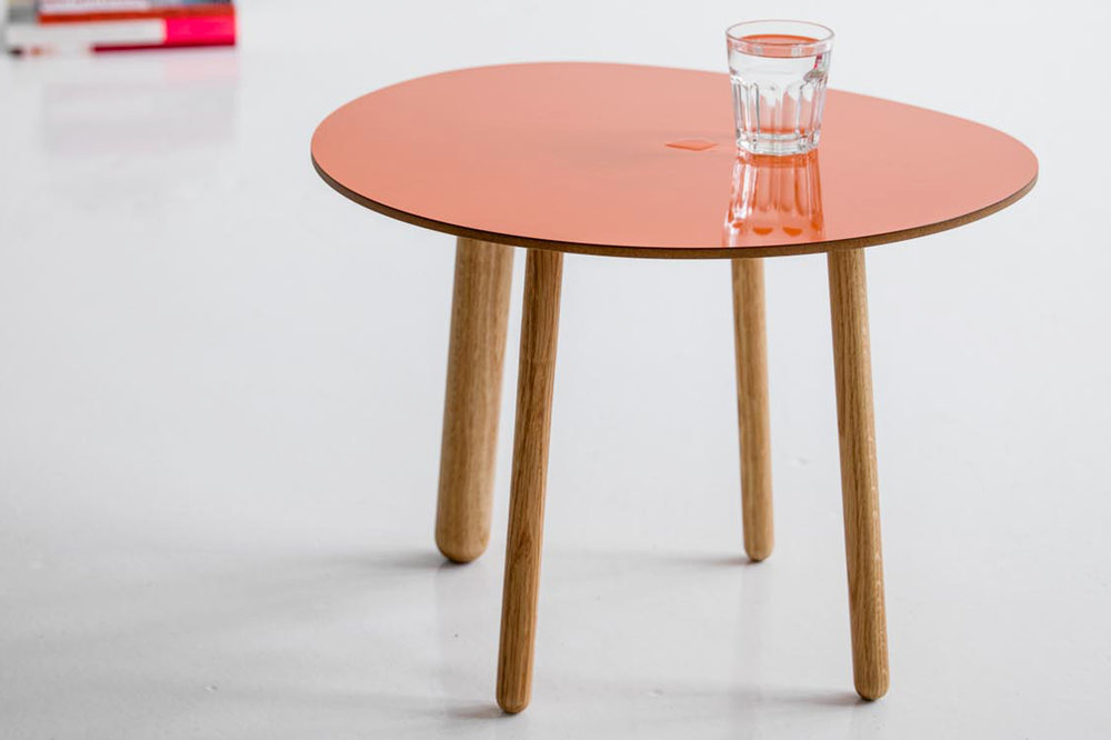Morris coffee table model 5 in glossy orange
