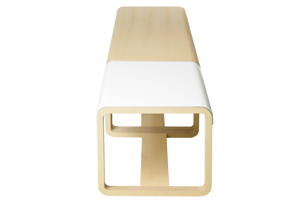 Habitek Jono bench in white and ash
