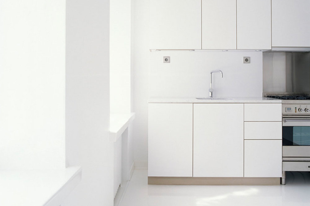 Habitek Solaris white kitchen cabinets