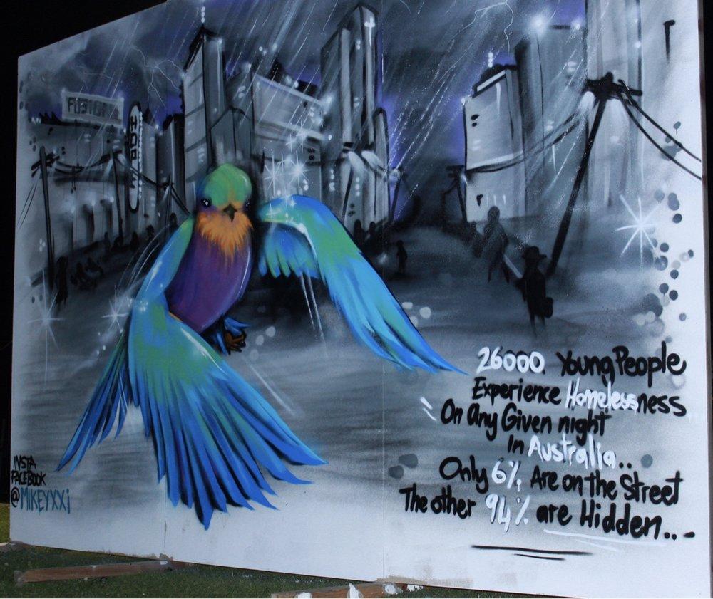 Live Street art by MikeyXXI