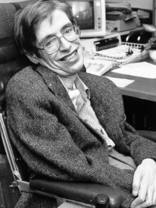 Stephen Hawking at NASA in 1980