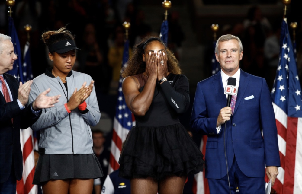 The spotlight was all Serena, even in defeat. Photo Credit: Getty Images
