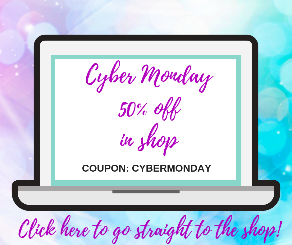 CYBER MONDAY 50% OFF EVERYTHING IN THE ONLINE SHOP!